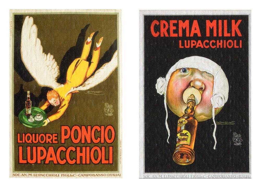 A.L.Mauzan pubblicità anni'20 Poncio Crema Milk Lupacchioli