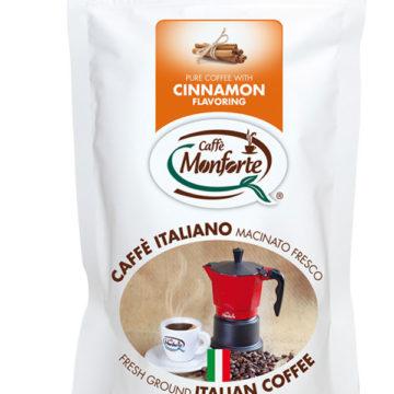 caffè Monforte macinato fresco aroma cannella