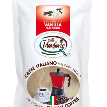 Caffè Monforte macinato fresco aroma vaniglia