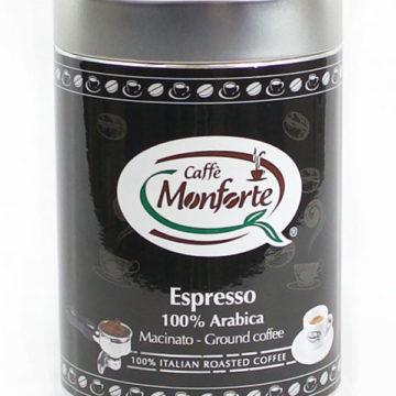 caffè espresso 100% arabica Monforte macinato