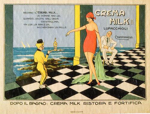 Pubblicità anni '20 Crema Milk Lupacchioli