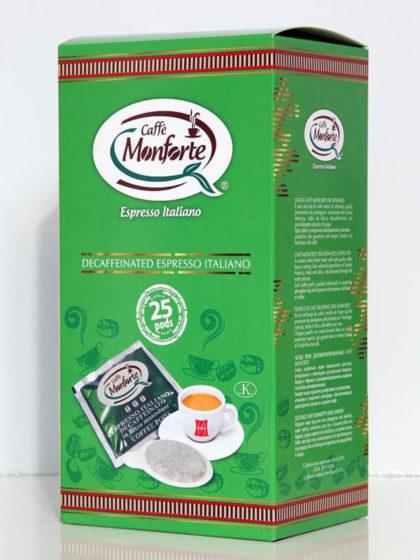Espresso Decaffeinato in cialde Monforte