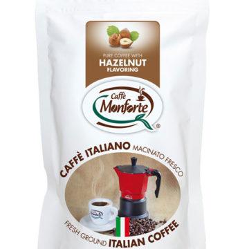 caffè macinato fresco Monforte aromatizzato alla nocciola